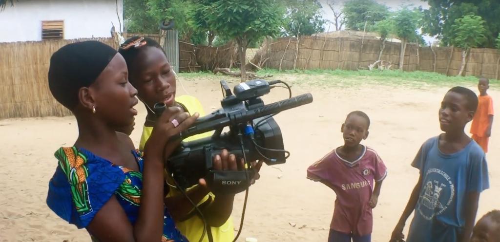Ndeye Fatou filming Walk on my own