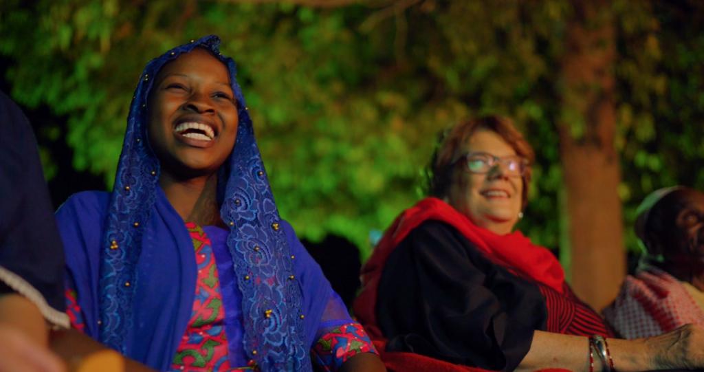 Molly Melching with Ndeye Fatou at Keur Simbara screening