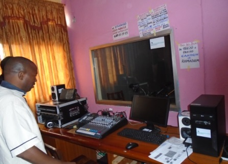 Using community-hosted radio programs to spread human rights messages